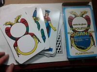 1 mazzo di carte napoletane giganti playing cards 18x10 cm scopone briscola