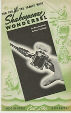 RARE 1930s SHAKESPEARE WONDEREEL & LURES BROCHURE ART DECO COLOR & ILLUSTRATIONS