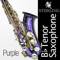 Purple Tenor Sax • Brand New STERLING Bb Saxophone • NEW • Case & Accessories •