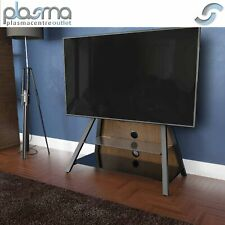 """AVF Options EASL925A Easel Cantilever TV Stand For Up To 65"""" TVs - Walnut"""