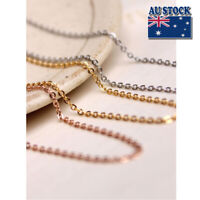 """Fashion Stunning 18K Rose Gold Filled 1.5mm Classic Chain Necklace 18"""" - 30"""""""
