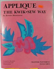 Applique the Kwik Sew Way Book Master Pattern 160+ Designs Decor Quilts Clothes