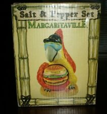 NEW  CERAMIC Margaritaville Cheeseburger  AND PARROTT Salt & Pepper Shakers -