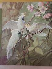 Authentic vintage Cockatoo fight Litho Print. 16x20