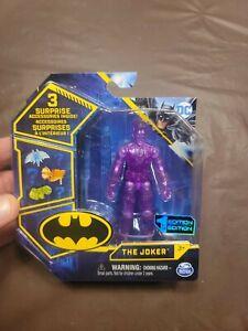 "New Spin Master DC Batman  Super Rare Clear Purple JOKER 3 3/4""  1st Edition"