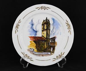Decorative Plate Porcelain Toilets Of Montemayor Cáceres, Painted Hand Craft