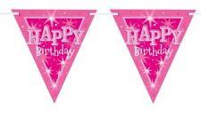 Guirnaldas de fiesta color principal rosa de bandera