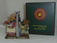 Verna and Shirley Boyds Bearstone 5.5in recipe friendship figurine 3rd Ed 228380