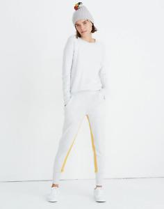 Madewell Splits59™ Apres Sweatpants Size S Heather White/Marigold item #K7285