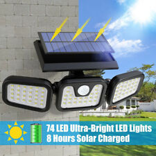 LED Security Triple Detector Solar Spot Light Motion Sensor Outdoor Floodlight