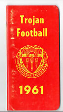 1961--USC TROJANS (WILLIE BROWN, BILL NELSON.)--FOOTBALL MEDIA GUIDE-NMT