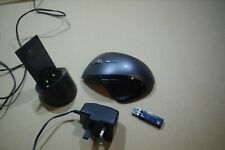 Logitech MX Revolution Cordless Laser Mouse with USB receiver and cradle