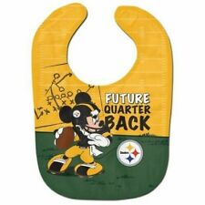 Pittsburgh Steelers Baby Bib Disney Mickey Mouse Feeding Infant NFL Football Fan