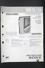 SONY WM-14/24 Walkman/Cassette Player Service-Manual/Schaltplan/Diagram o81