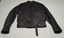 Harley Davidson Womens 40 W Black Leather Motorcycle Jacket