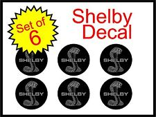 "Ford Shelby Mustang 1.5"" 6pc Replacement Decal Sticker center cap wheel logo"