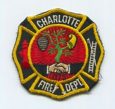 CHARLOTTE FIRE DEPARTMENT PATCH NORTH CAROLINA NC 1775 VERY OLD DIFFERENT STYLE