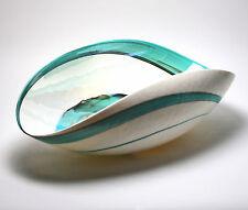 "Home Decor - ""Aegean Sea"" Murano Glass Bowl - Ivory / Teal Green - 19"" X 10.5"""
