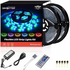 DAYBETTER Led Strip Lights 32.8ft Waterproof Color Changing 3528RGB 600LEDs Ligh