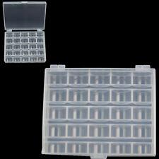 25 Solts Plastic Empty Bobbins Spools Box Sewing Machine Bobbin Case Organizer