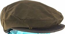 WOOLRICH BROWN WAXED COTTON OIL CLOTH IVY DRIVER DRIVING CAP SMALL 55cm 6 7/8-7