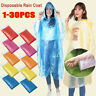 1-30X Disposable Adult Emergency Waterproof Rain Coat Poncho Camping Hiking Hood