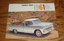 1961 Chevrolet Truck Pickup Chassis Cab Stake Sales Brochure 61 Chevy