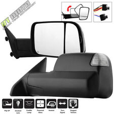 Left+Right 2009-2012 Dodge Ram 1500 Power Heated Smoked Led Signal Tow Mirrors