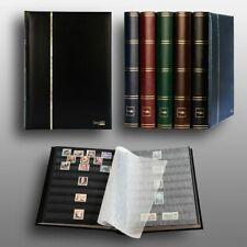 Luxus-A4-Briefmarkenalbum-Einsteckbuch 60 schwarze Seiten schwarzer Einband