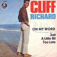 """7"""" Cliff Richard – On My Word / Beach-Cover // Germany 1965"""