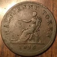 1815 LOWER CANADA HALF PENNY TOKEN BRETON 1004 IN GREAT CONDITION !