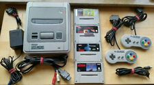 Super Nintendo SNES Konsole | 2 Controller | komplett Set alle Kabel + 4 Spiele