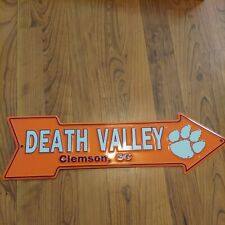"Ncaa Clemson ""Death Valley"" Arrow Sign 6"" x 20"" Tigers (Metal)"