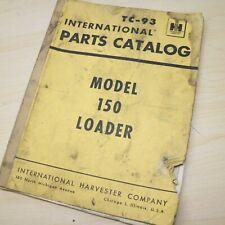 Ih International Harvester Model 150 Crawler Loader Parts Manual Book Track List
