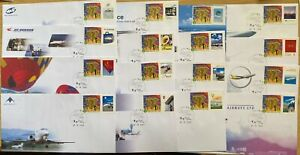 Hong Kong Airport Achievement/Progress Special Edition stamp Issues on 14 Covers