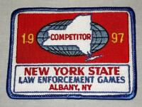 1997 New York State Law Enforcement Games Albany NY Competitor Patch, Unused
