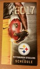 2017 PITTSBURGH STEELERS NFL POCKET SCHEDULE - FREE SHIPPING! 6 SUPER BOWLS!