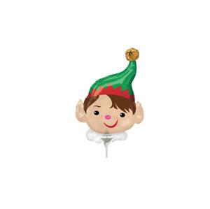 Christmas Adorable Elf Mini 14'' Shape Foil Balloon - Pack of 2