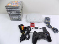 Ps1 Playstation 1 Ps One Console + Controller + AV + 11x Games + Memory Card
