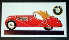 BMW 328  Soft Top  2 Litre Sports Car     Vintage Card  ## VGC