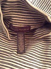 BANANA REPUBLIC Black & White Striped Turtleneck Knit Shirt Made In USA SZ XS