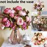 Handmade Silk Wedding Decoration Artificial Flowers Bridal Bouquet Fake Peony