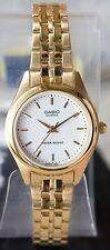 Casio LTP1129N-7A Ladies Analog Gold Steel Watch Stainless Steel Casual Dress