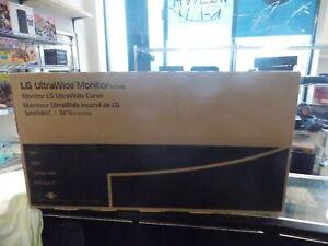 "LG 34WN80C-B 34"" WQHD 21:9 UltraWide IPS LED Curved Monitor - NEW"
