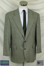 (40S) Great Black, Rust, Gray & Tan Houndstooth Check Coat by CHAPS Ralph Lauren