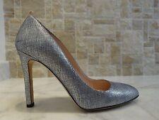 SARAH JESSICA PARKER 'Lady' Pump Shimmer Silver / Blue US-10M EU-40M RP $350