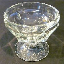 Vntg Libbey Small Footed Clear Glass Dessert Bowls 3.5 oz Four (4) Avail. EUC