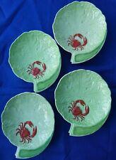 4 x Art Deco Carlton Ware crab dishes antique, 1930s