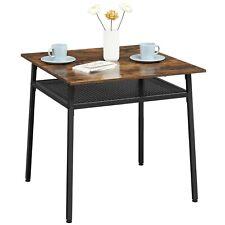 VASAGLE Esstisch mit Ablage Quadratischer Küchentisch Esszimmertisch KDT008B01