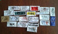 lote de 20 sobres de azucar vacios de bares, hoteles, restaurantes